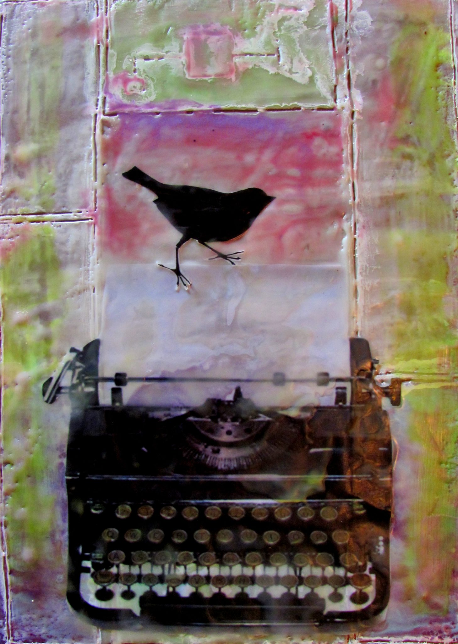 A New Page, mixed media encaustic by Courtney Putnam