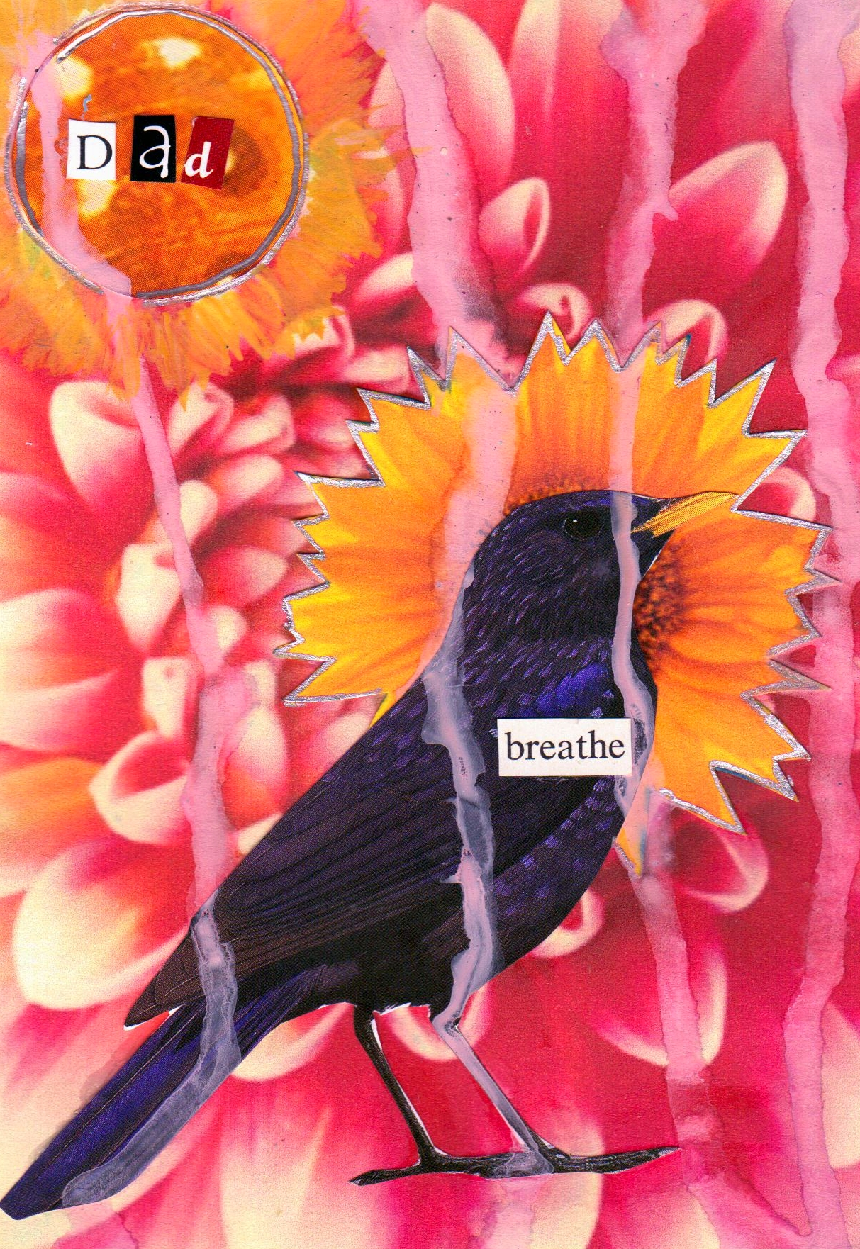 Breathing the Loss, mixed media collage by Courtney Putnam