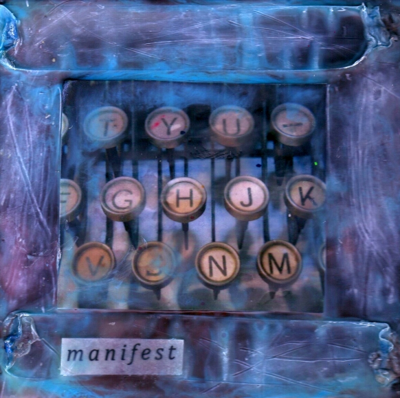 Manifest, mixed media encaustic by Courtney Putnam