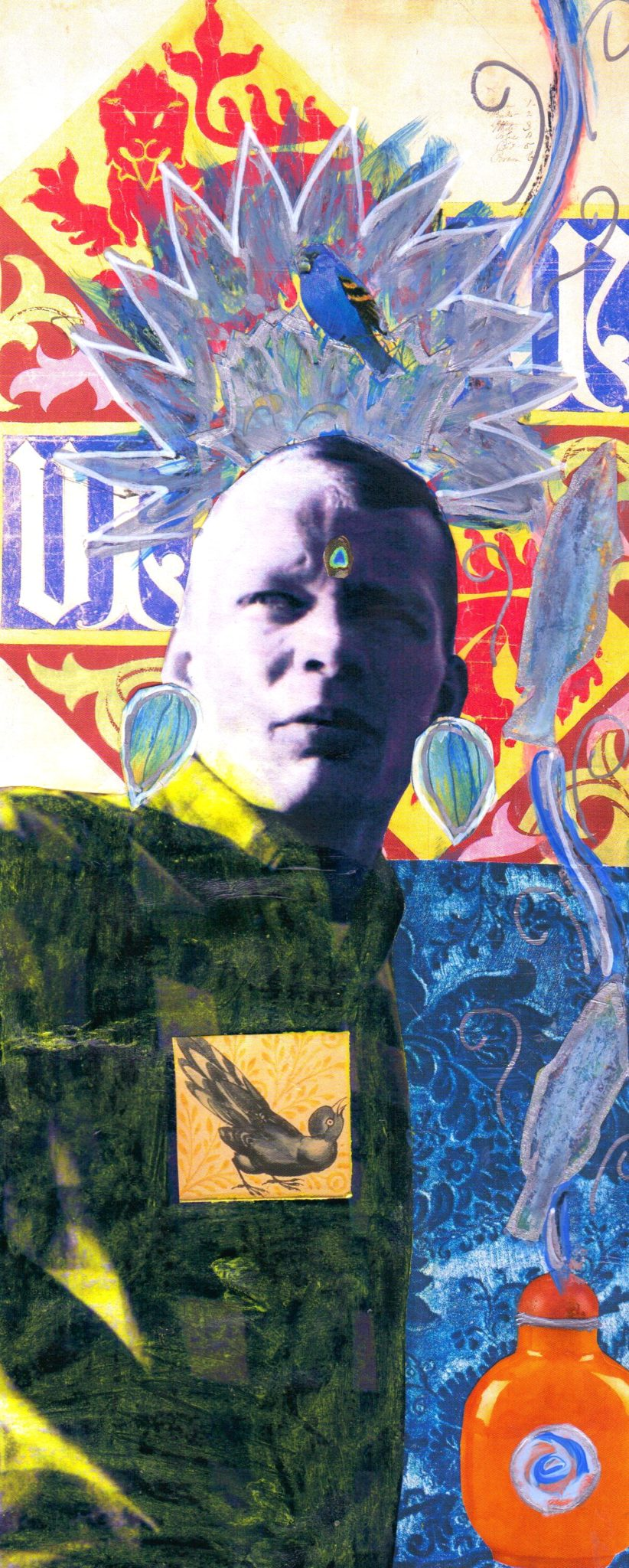 Prince of Action, mixed media collage by Courtney Putnam
