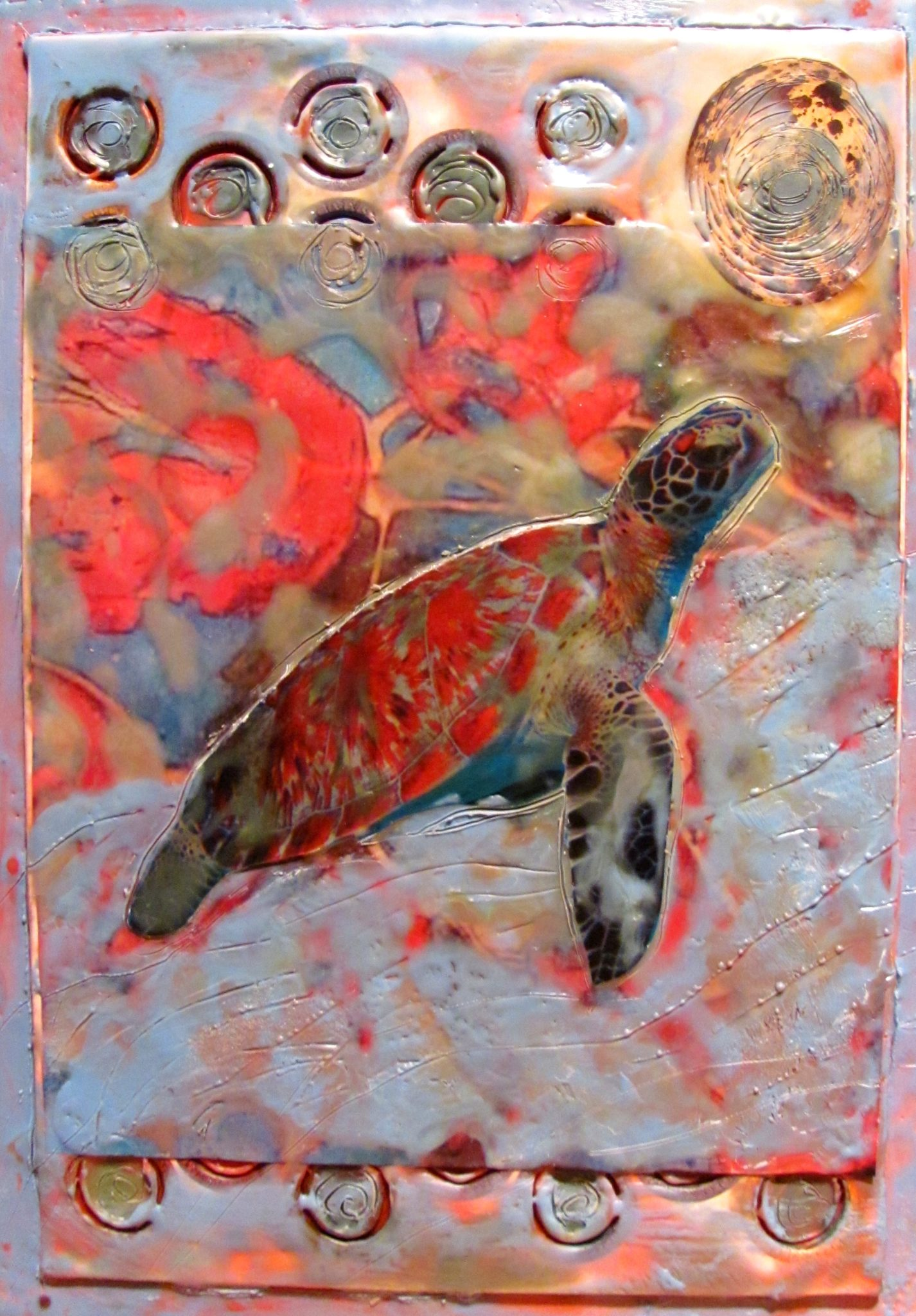 The Journey, mixed media encaustic by Courtney Putnam