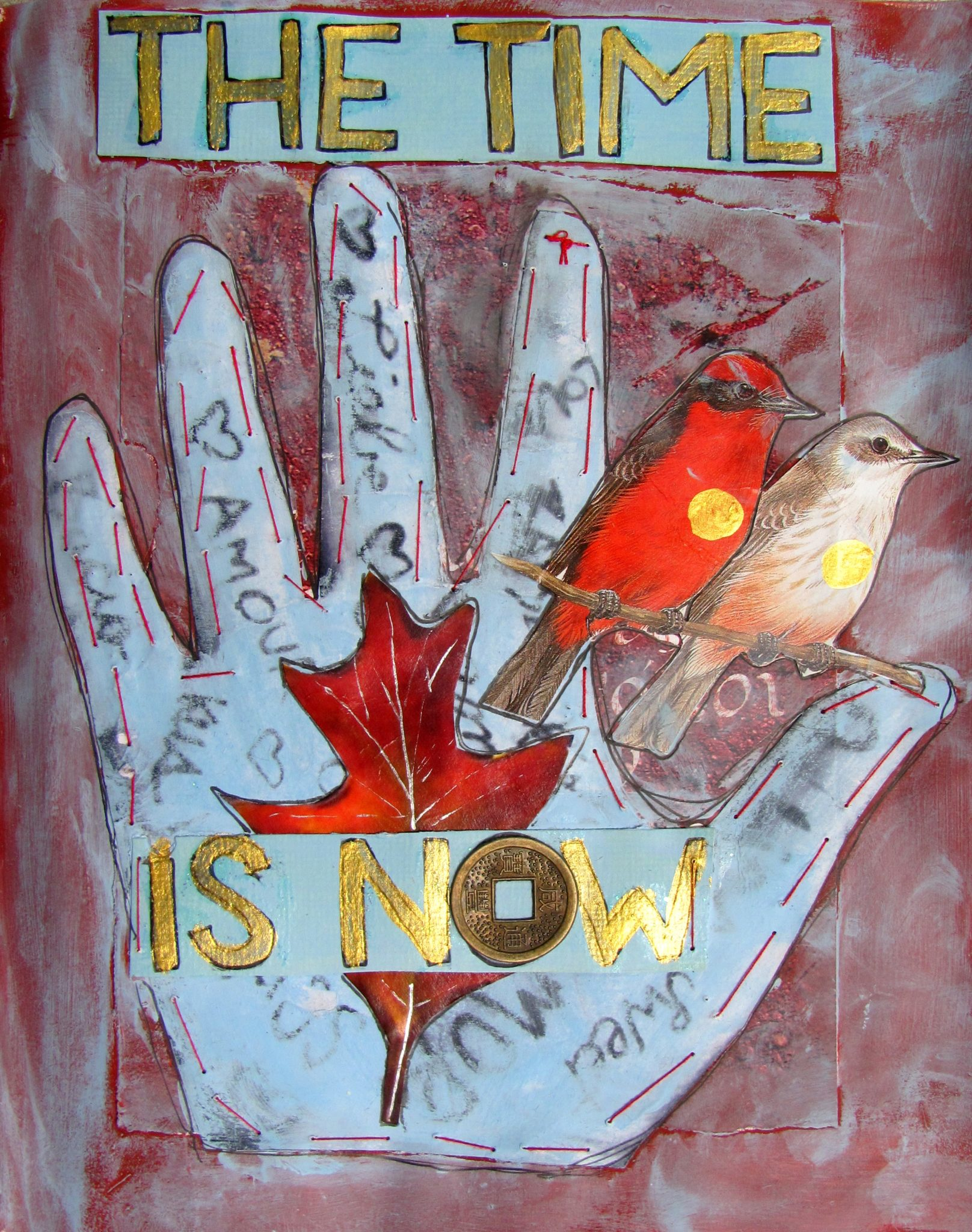 The Time is Now, mixed media collage by Courtney Putnam