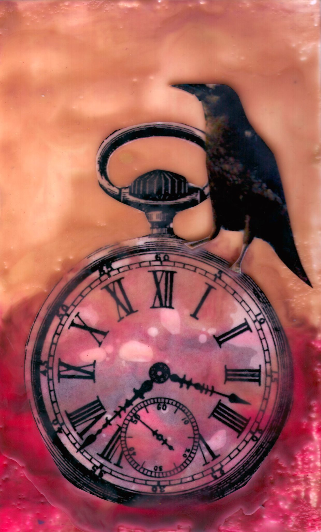 Time Keeper, mixed media encaustic by Courtney Putnam