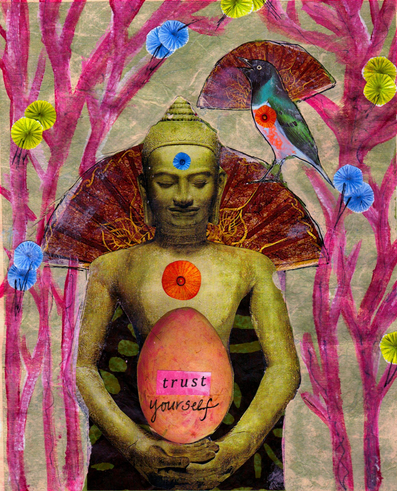 Trust Yourself, mixed media collage by Courtney Putnam