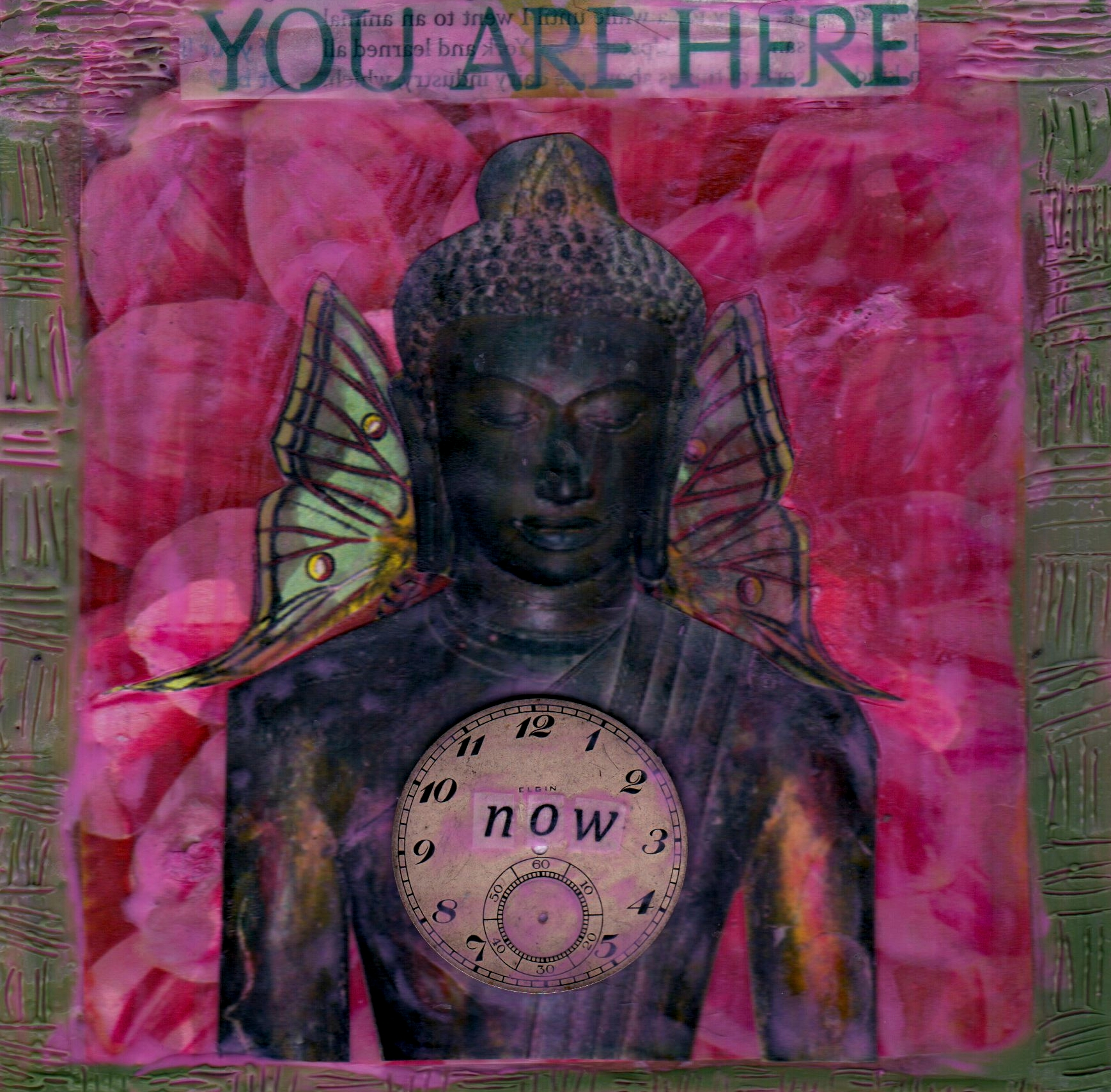 You Are Here Now, mixed media encaustic by Courtney Putnam
