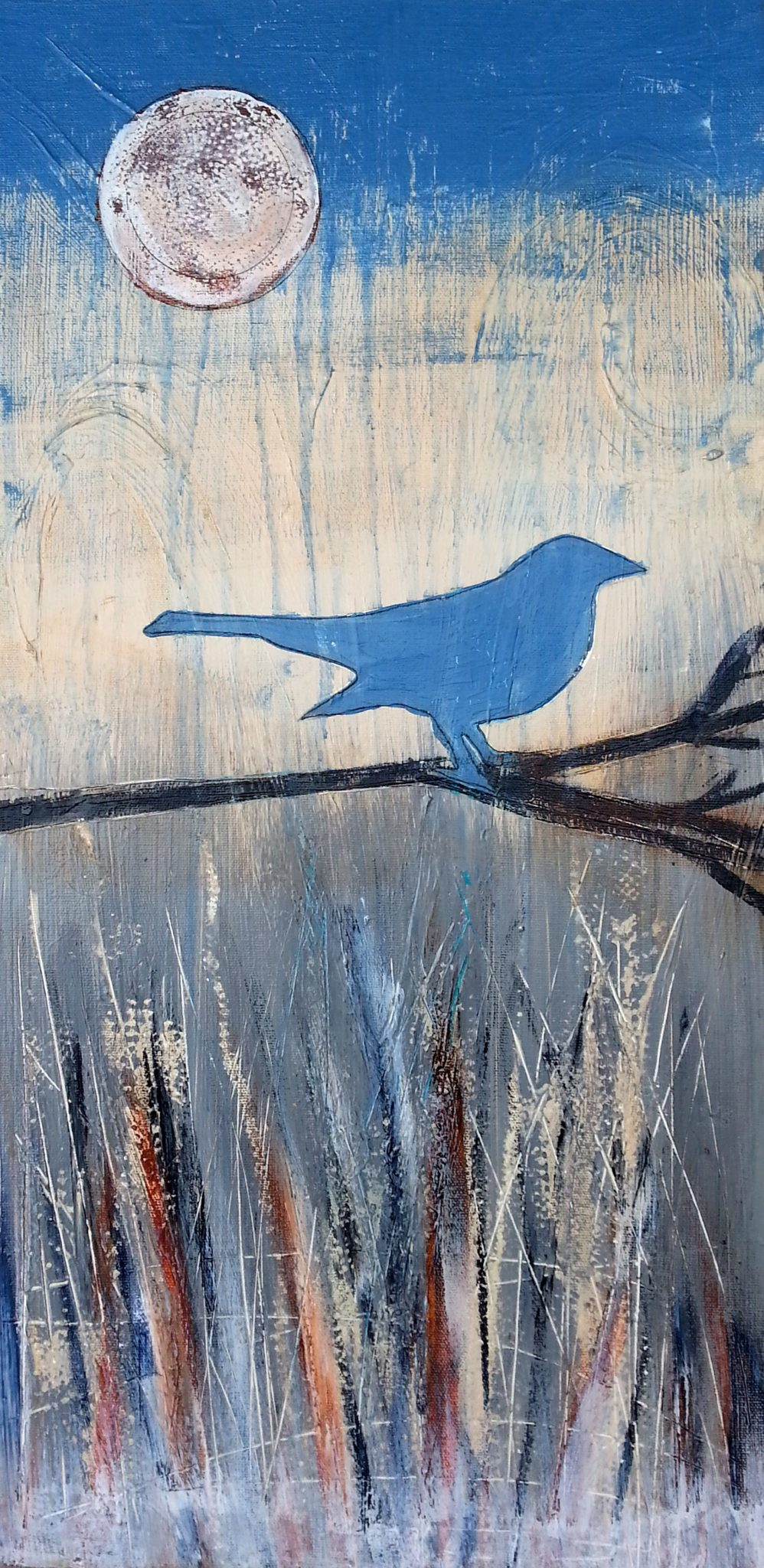 Avian Winter, acrylic painting by Courtney Putnam